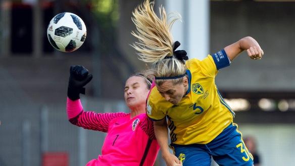 Fotboll, dam, VM-kval, Sverige - Kroatien