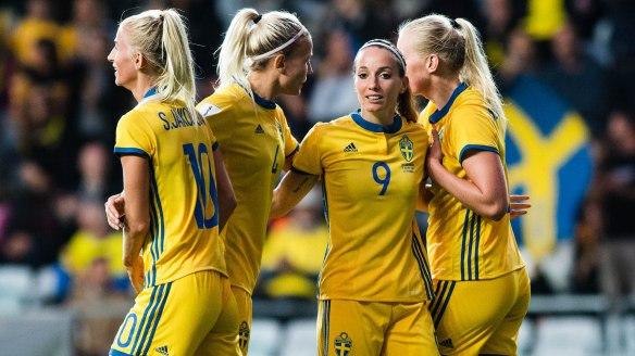 Fotboll, Dam, VM-kval, Sverige - Ukraina