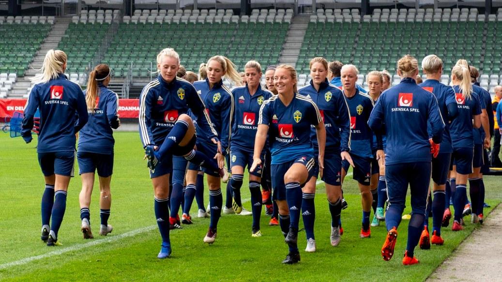 Fotboll, Dam, Infšr VM-kval, Sverige, TrŠning